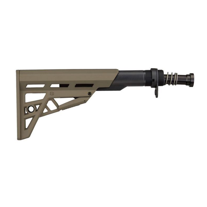 ATI AR-15 TactLite 6 Position Mil-Spec Stock w/ Military Buffer Tube Assembly Flat Dark Earth