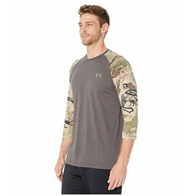 Under Armour Mens Camo Sleeve Utility Grey