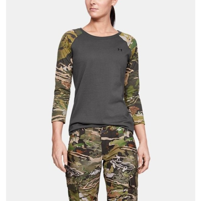 Under Armour Womens Camo Sleeve Utility Grey