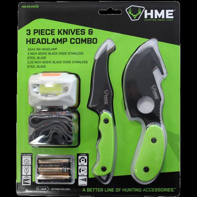 HME 3 Piece Knives & Headlamp