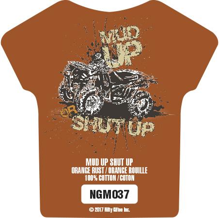 Nifty Giftee Nifty Giftee Crushed Tees Mud Up Shut Up