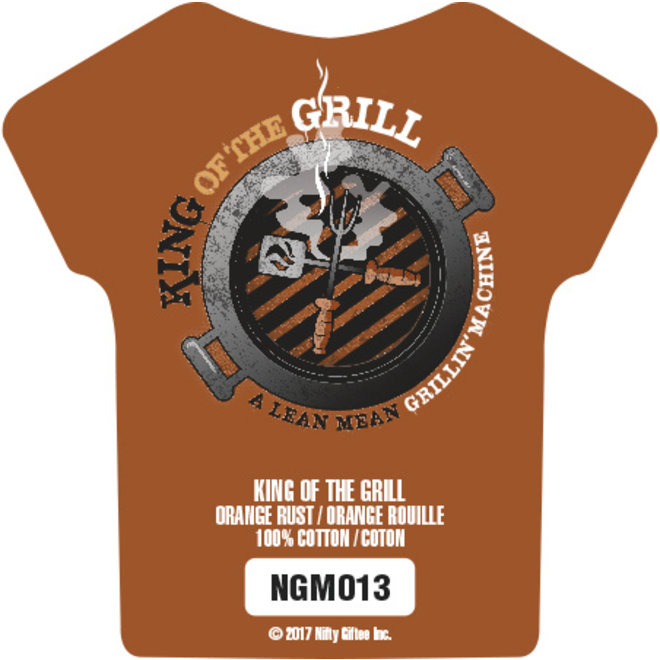 Nifty Giftee Crushed Tees King of the Grill