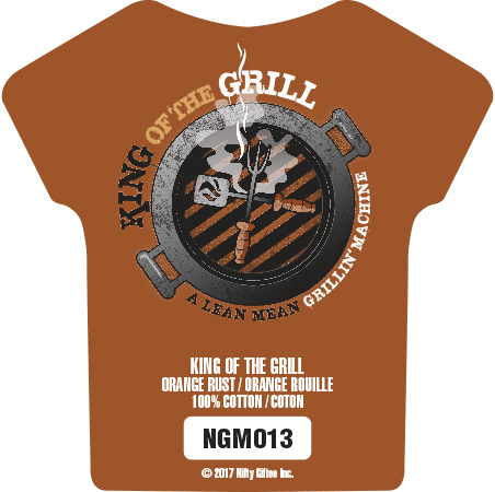 Nifty Giftee Nifty Giftee Crushed Tees King of the Grill
