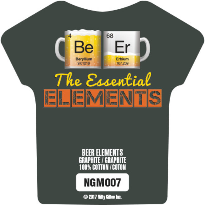 Nifty Giftee Crushed Tees Beer Elements
