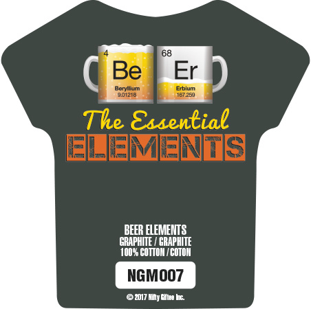 Nifty Giftee Nifty Giftee Crushed Tees Beer Elements
