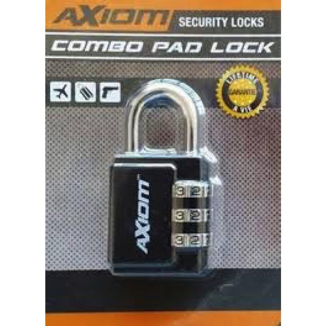 Axiom 30mm 3 Dial Hard Shackle Lock