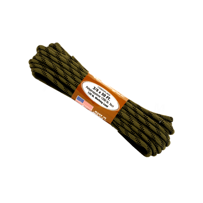 """Atwood Rope 3/8"""" x 50' Camo"""