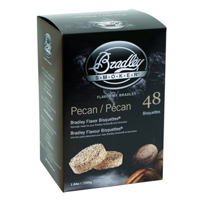 Bradley Bisquettes Pecan 48-Pack