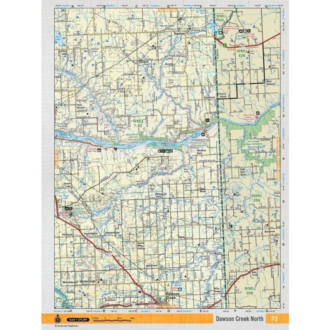 Backroad Maps Topo Northern BC Dawson Creek