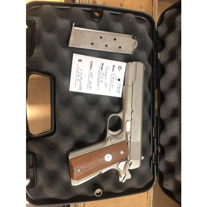 Colt Government Series 70 Mk IV Stainless Steel 45 Auto C-748