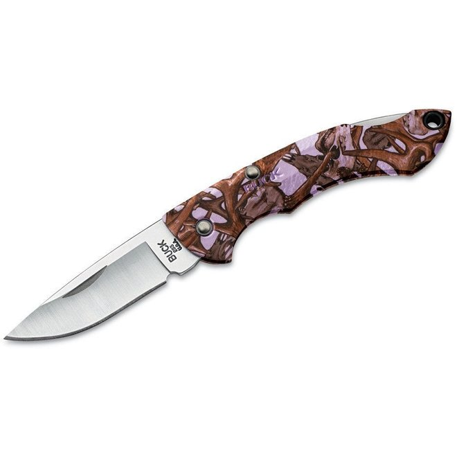 Buck Knifes Nano Bantam Mini Lockback Lavender Deer Skull