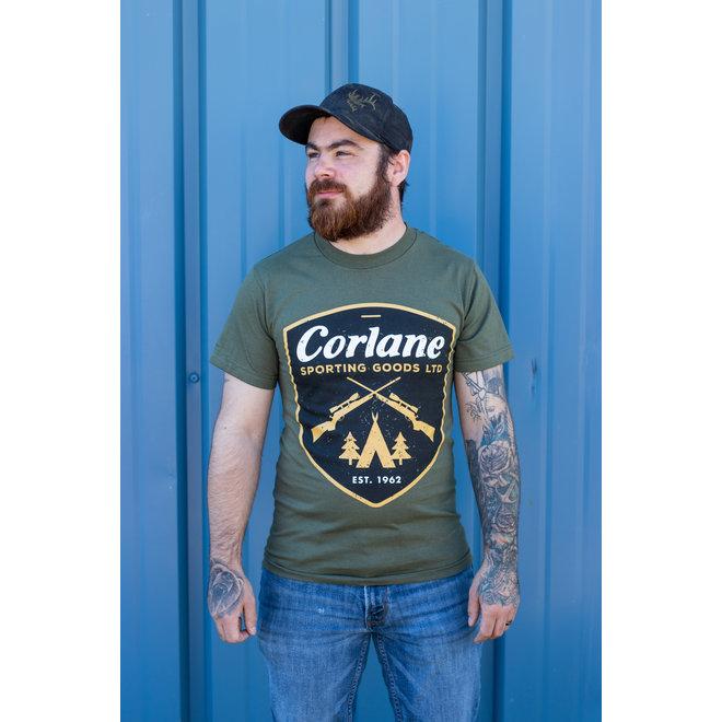 Corlane's 2020 Military Badge Tee Military Green