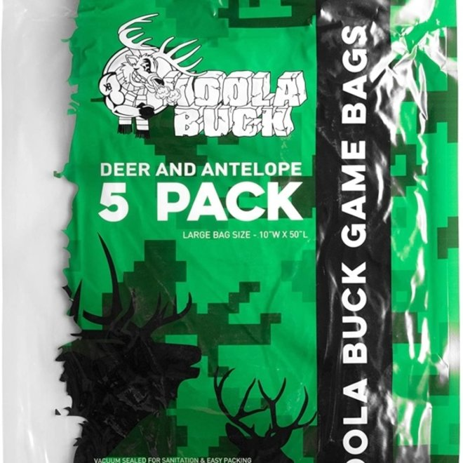 Koola Buck Deer Quarter Game Bags 5 Pack Large