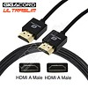 Gigacord Gigacord Ultraslim 36AWG High Speed HDMI 1.4 Cable with Ethernet, Lifetime Warranty, Black (Choose Length)