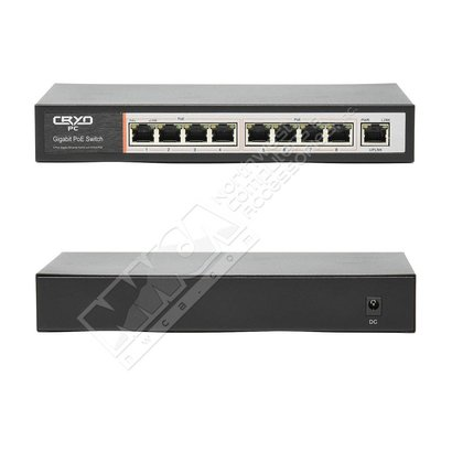 Cryo-PC Cryo-PC PUG08 8+1 PoE Unmanaged Switch, 1000Mbps each port,48V 2A External Power Adapter, IEEE802.3af Standard