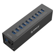 ORICO ORICO 10 Port Aluminum HUB with 12V3A Power Adapter and 3.3Ft. USB3.0 Cable - Black(A3H10)