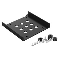 ORICO ORICO Aluminum 2.5'' to 3.5'' Hard Disk Drive Mounting Bracket Kit HDD SSD SATA Bay Converter (3.5 to 1x2.5 Black)