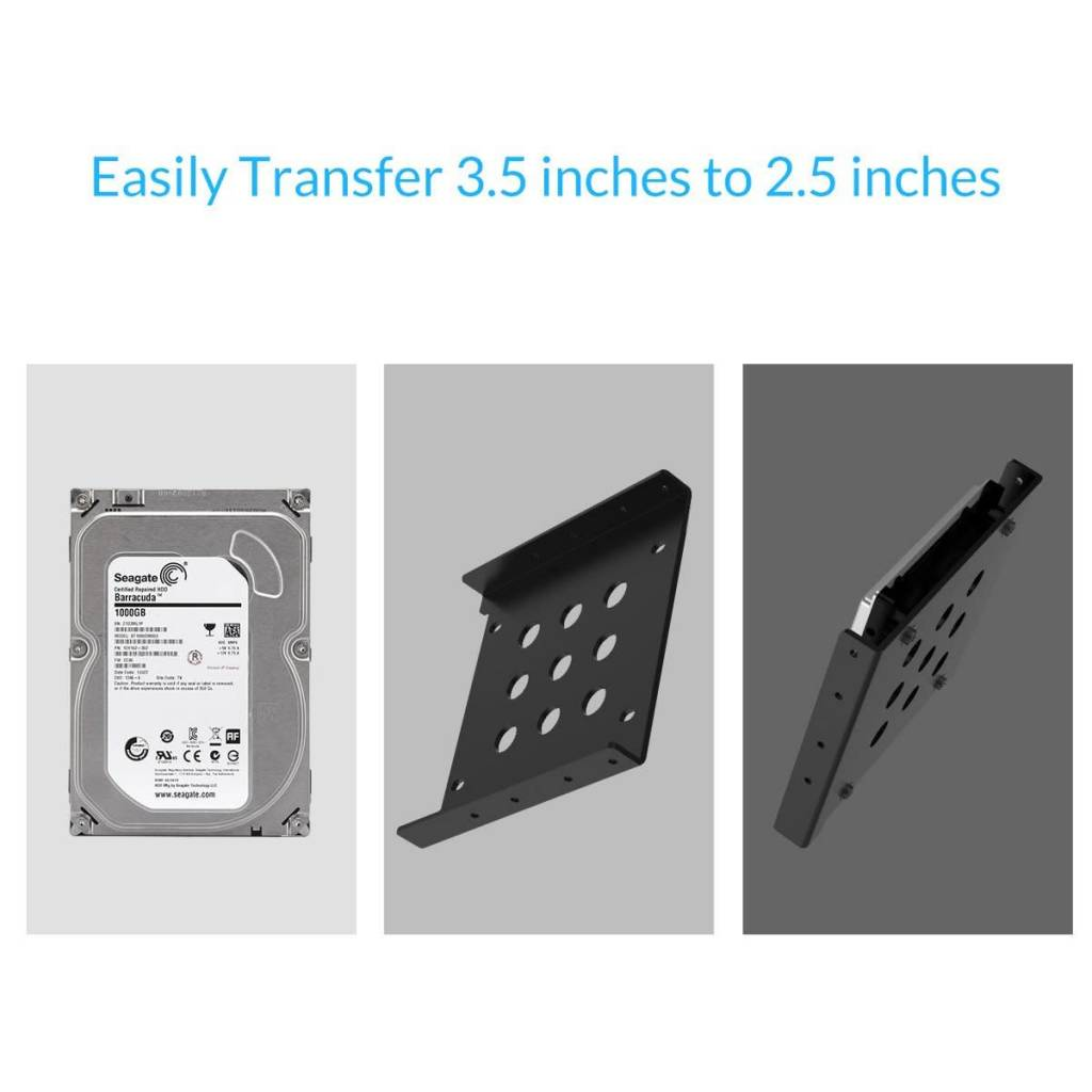 ORICO ORICO Aluminum 2.5'' to 3.5'' Hard Disk Drive Mounting Bracket Kit