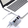 ORICO ORICO M3H4-SV Mini High Speed Aluminum USB 3.0 HUB 4 Ports Splitter Adapter with 30cm USB 3.0 Extension Cable for Laptop PC Mac