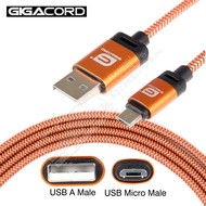 Gigacord Gigacord BlackARMOR2 Samsung USB Micro 5-pin Charge/Sync Cable w/Strain Relief, Nylon Braiding, Tapered Aluminum Connector, Lifetime Warranty, Orange (Choose Length)