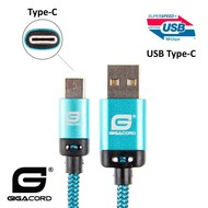 Gigacord Gigacord BlackARMOR2 Samsung USB Type-C 24-pin Charge/Sync Cable w/Strain Relief, Nylon Braiding, Anodized Aluminum Connectors, Lifetime Warranty, Blue (Choose Length)