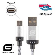 Gigacord Gigacord BlackARMOR2 Samsung USB-C Type-C 24-pin Charge/Sync Cable w/Strain Relief, Nylon Braiding, Anodized Aluminum Connectors, Lifetime Warranty, White (Choose Length)