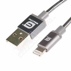 Gigacord 3Ft Gigacord MetalARMOR iPhone/iPad/iPod Lightning 8 pin Charge/Sync Cable w/Strain Relief, Metal Braiding, Ultra Slim Aluminum Connectors, 1 Year Warranty (Gunmetal Black)