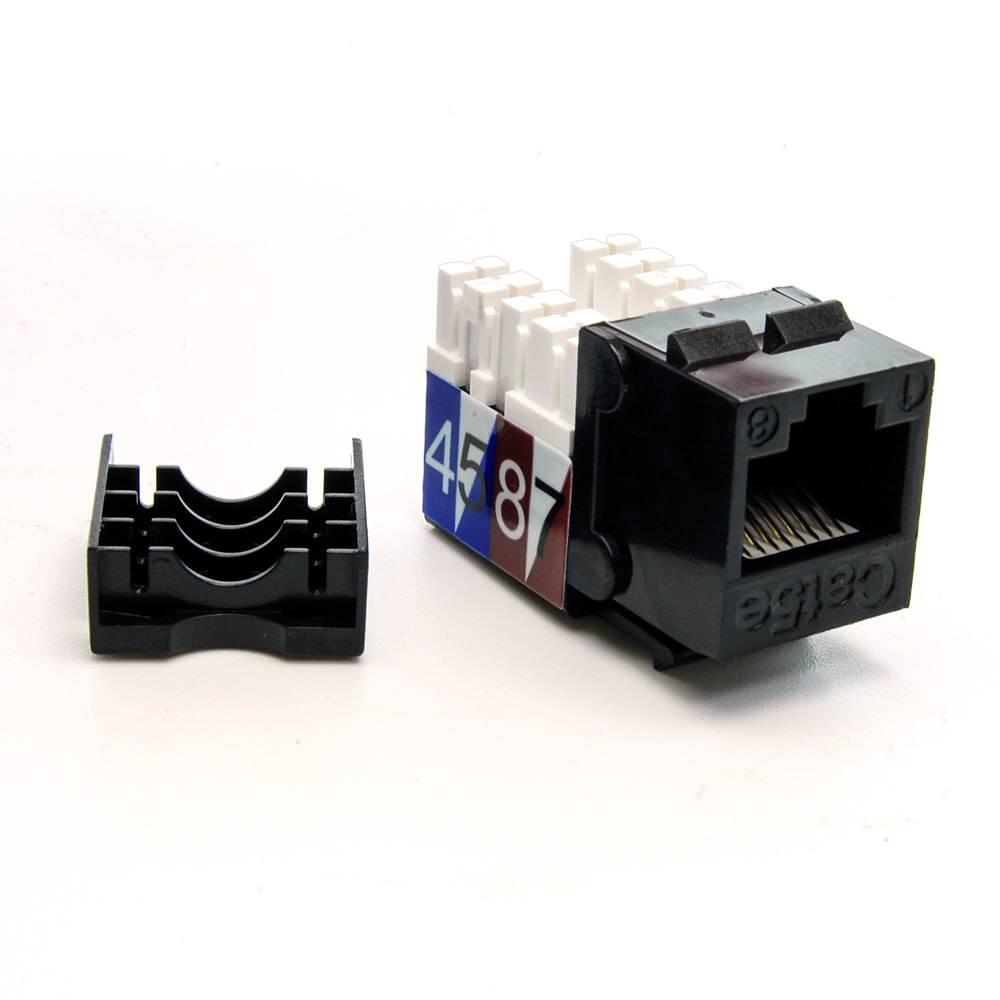 cat 5e rj45 110 type keystone jack (choose color)