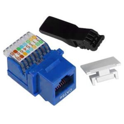Cat 5E RJ45 Tool-less Keystone Jack (Choose color)