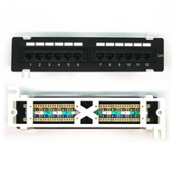 Cat.6 110 Type Patch Panel 12Port Vertical w/Bracket Wall Mountable
