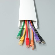 Flat Cable Duct Cable Dual Raceway White (1000 x 76 x 19mm)