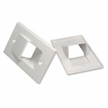 1-Gang Recessed Wall Plate, White