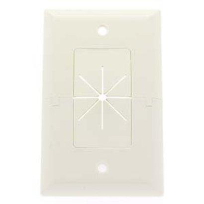 Split Plate w/Flexible Opening White
