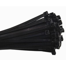 Cable Tie 8in 18lb Nylon Self-Locking Black 100 Pack