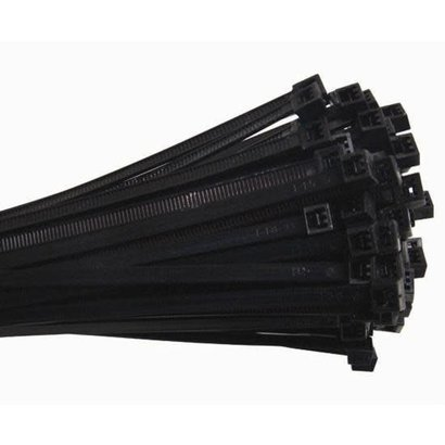 """4"""" Nylon Cable ties, 100 pack, Black"""