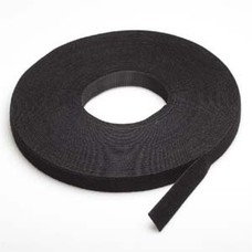 "50 Foot (50Ft) Velcro Strap Tape Roll, 20mm (0.8"") Width, Black color"