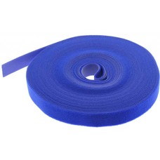 """50 Foot (50Ft) Velcro Strap Tape Roll, 20mm (0.8"""") Width, Blue color"""