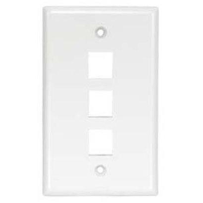 3Port Keystone Wallplate White