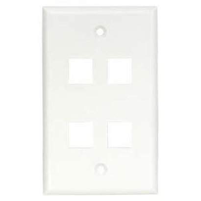 4Port Keystone Wallplate White