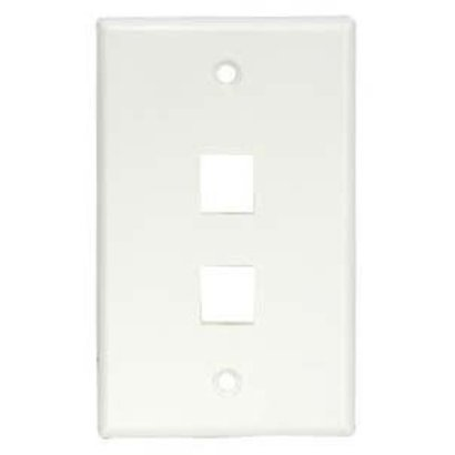 2Port Keystone Wallplate Decora, White
