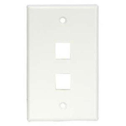 2Port Keystone Wallplate Decora, White