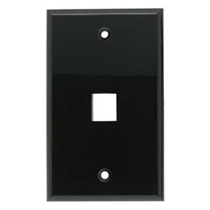 1 Port Keystone Wall Plate Black