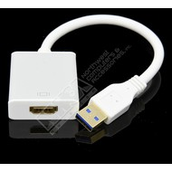 USB 3.0 Male to HDMI Female Converter, Silver Win7