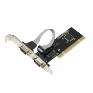 SYBA Controller Card SD-PCI15025 PCI Serial 2xDB-9 with Low Profile Brackets Retail