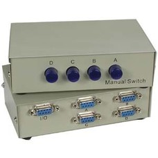 DB9 RS232 Serial 4Way Manual Switch Box