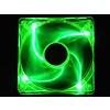 120mm x 25mm UV Green, Quad LED Ball Bearing Fan, Medium Speed, 3pin