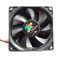 Logisys Replacement Chassis Fan 80mm x 25mm 3-pin/4-pin Ball Bearing DC 12Volt