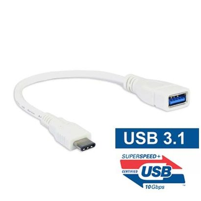 6 inch USB 3.1C Male to 3.1A Female Adapter Cable