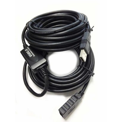 25 Meter (80 Feet) USB 2.0 Type A Male to A Female Active Extension Repeater Cable - 25M 80 Foot) Black