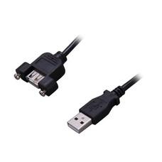 1ft Panel-Mount USB 2.0 A M/F